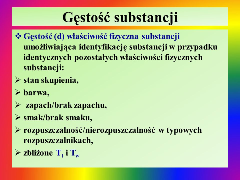Gęstość substancji