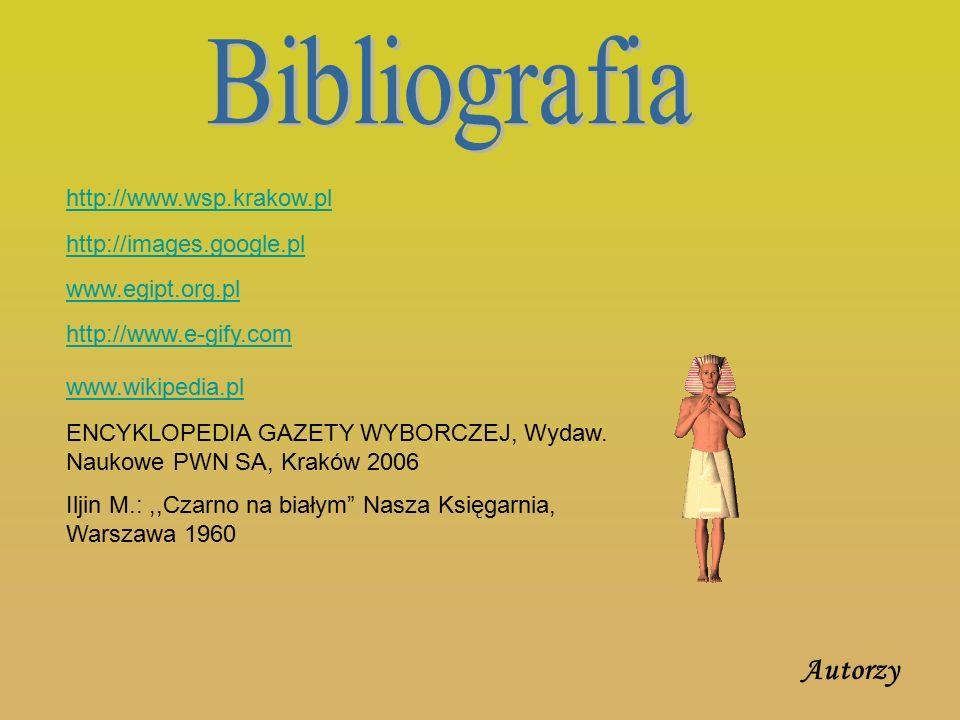 Bibliografia Autorzy http://www.wsp.krakow.pl http://images.google.pl