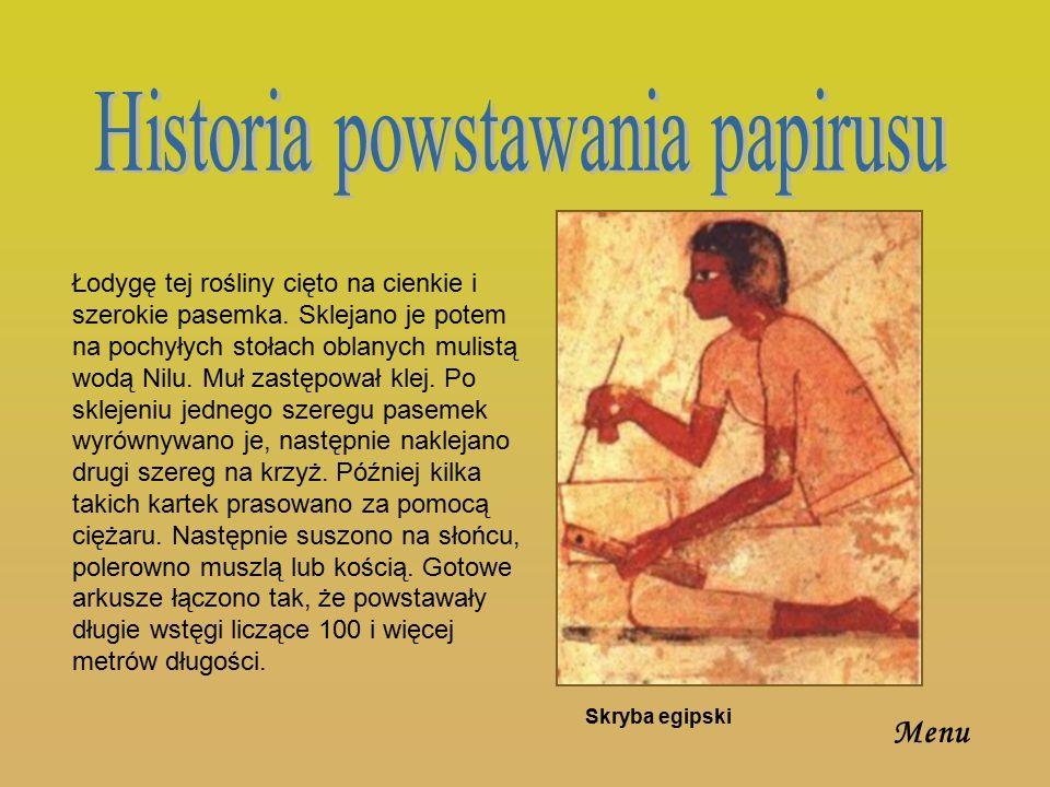 Historia powstawania papirusu
