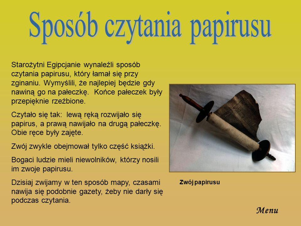 Sposób czytania papirusu