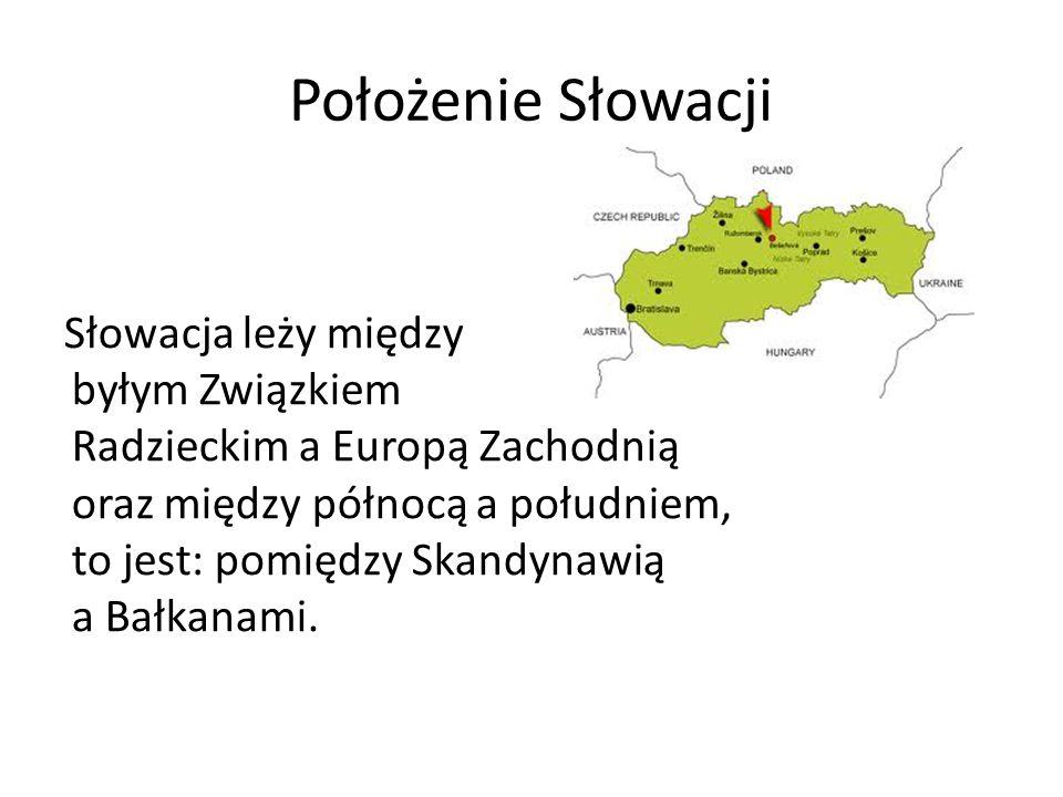Położenie Słowacji