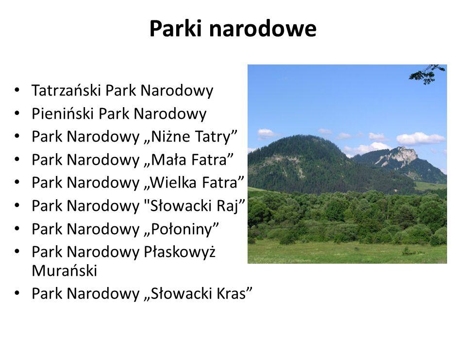 Parki narodowe Tatrzański Park Narodowy Pieniński Park Narodowy