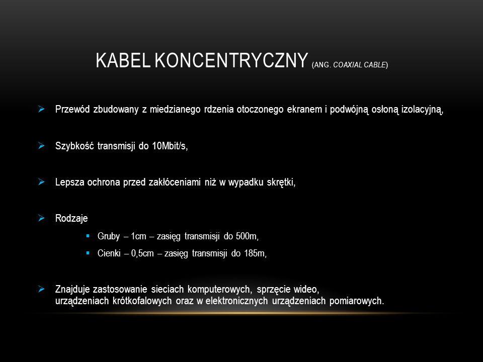 Kabel koncentryczny (ang. coaxial cable)