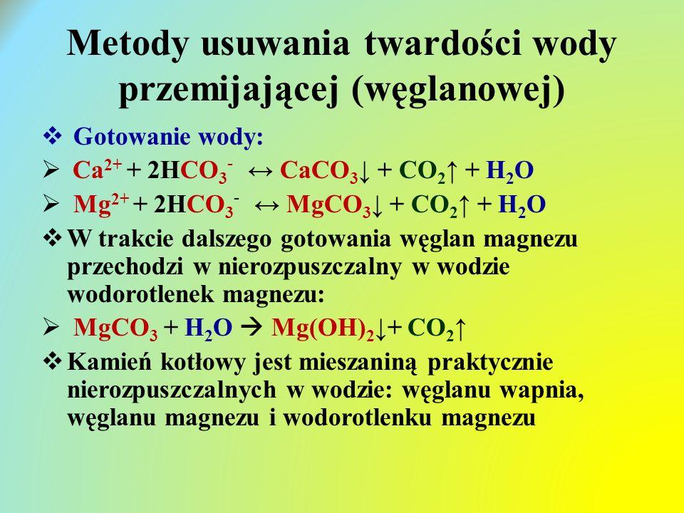 Metody usuwania twardości wody przemijającej (węglanowej)