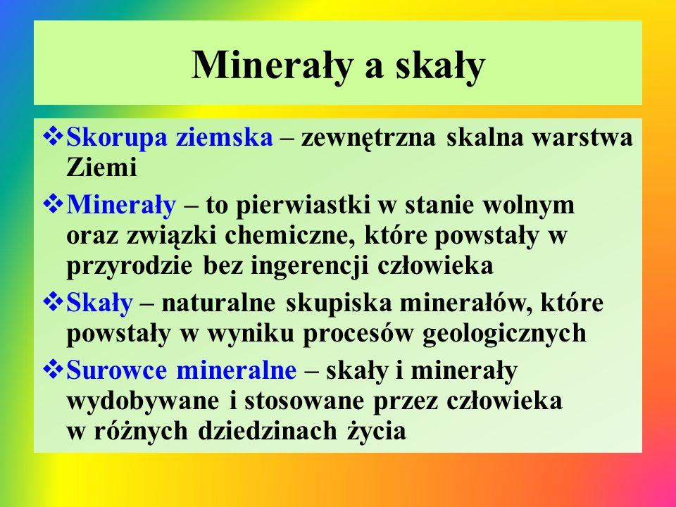 Minerały a skały Skorupa ziemska – zewnętrzna skalna warstwa Ziemi