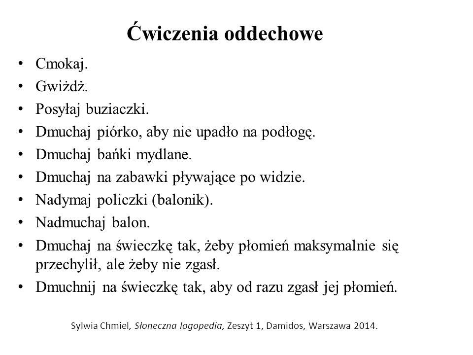 Sylwia Chmiel, Słoneczna logopedia, Zeszyt 1, Damidos, Warszawa 2014.