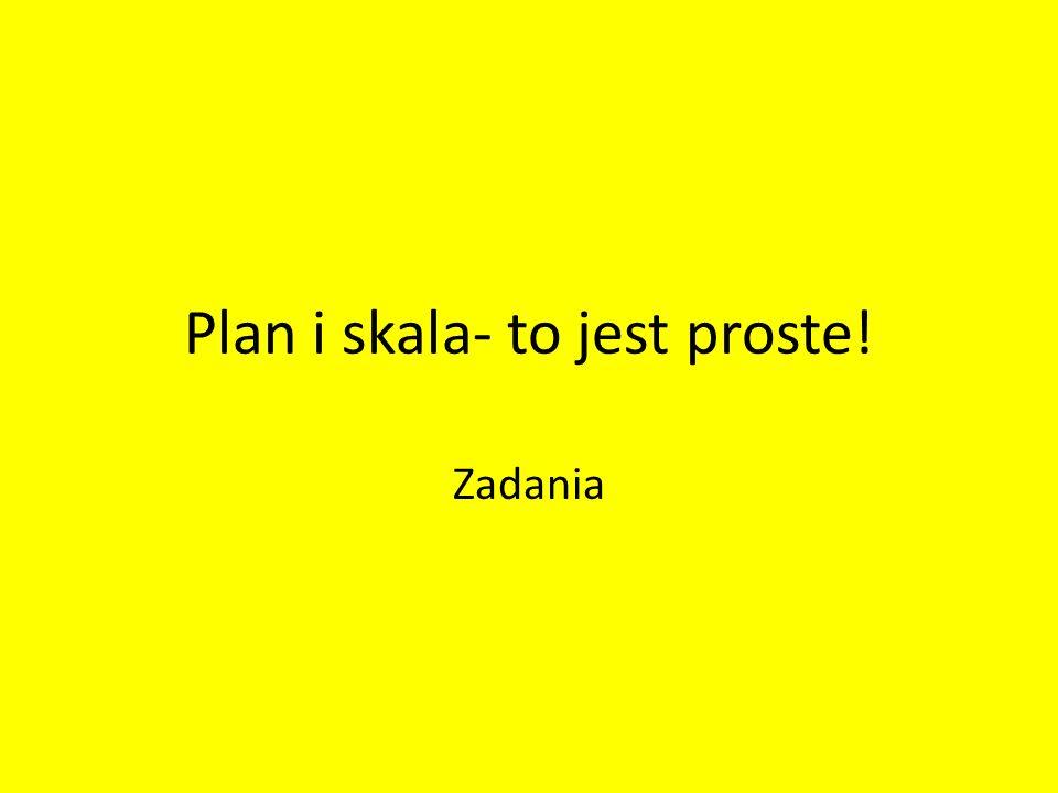 Plan i skala- to jest proste!