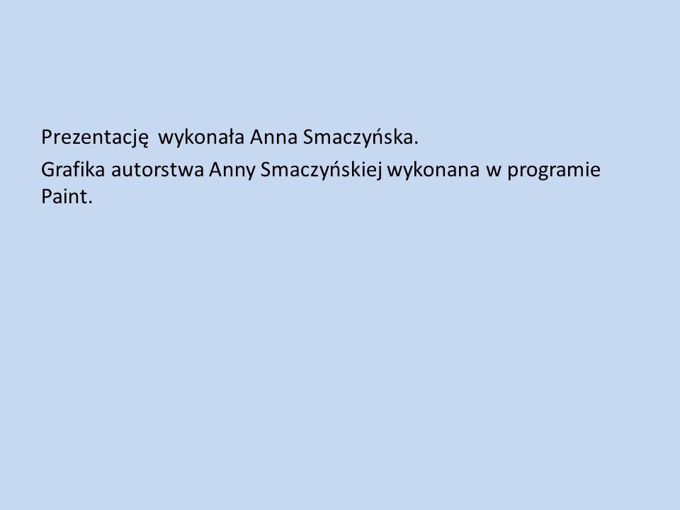 Prezentację wykonała Anna Smaczyńska