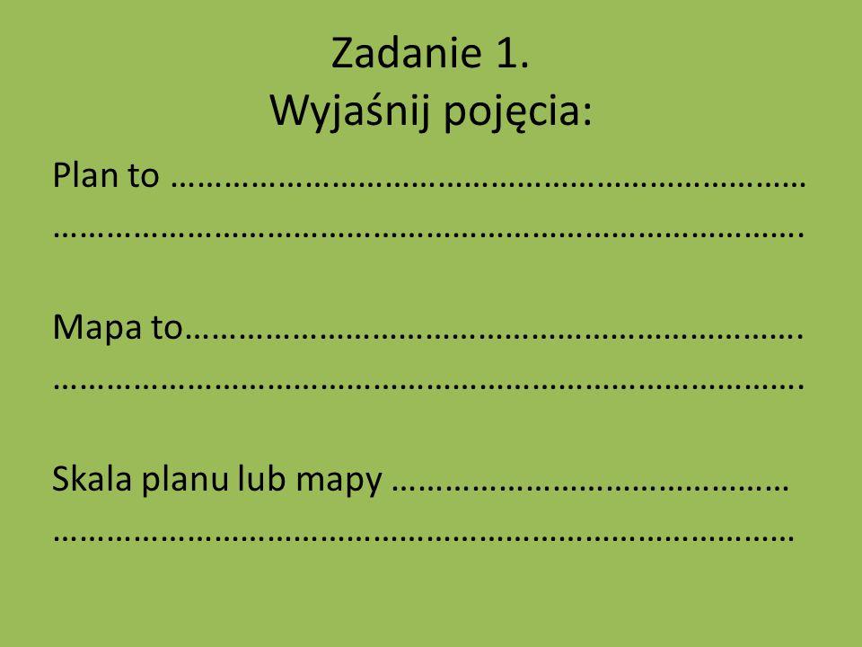 Zadanie 1. Wyjaśnij pojęcia: