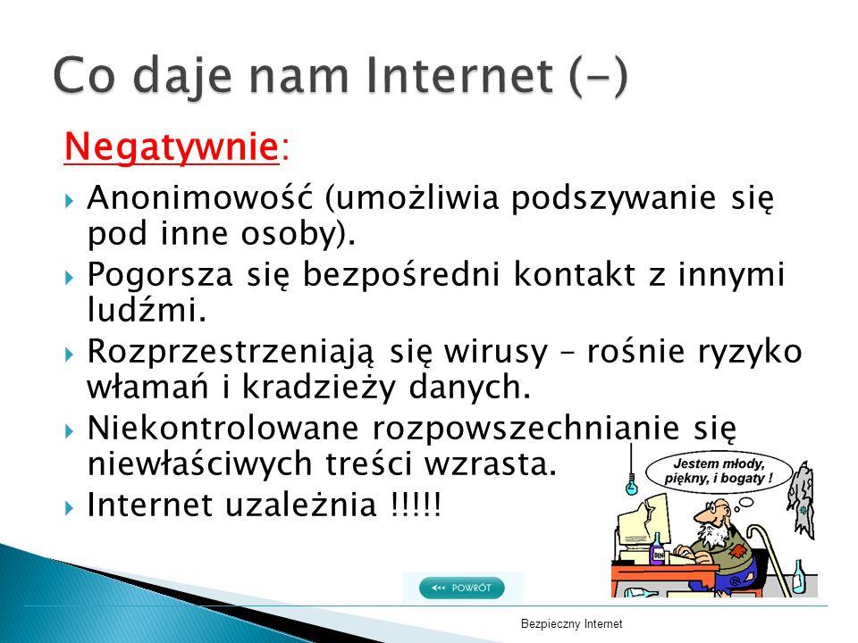 Co daje nam Internet (-)