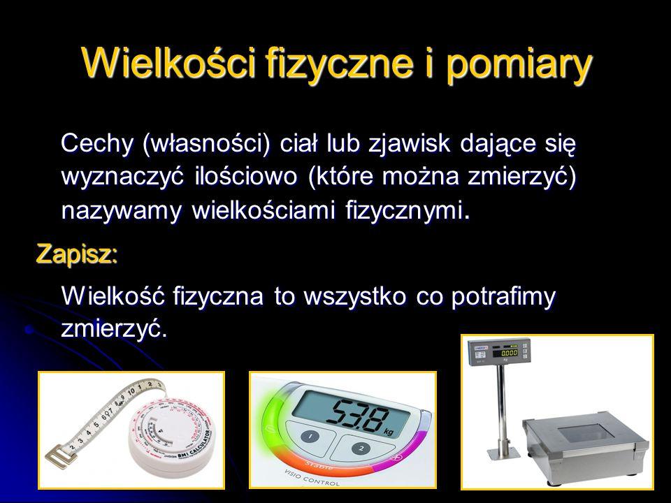 Wielkości fizyczne i pomiary