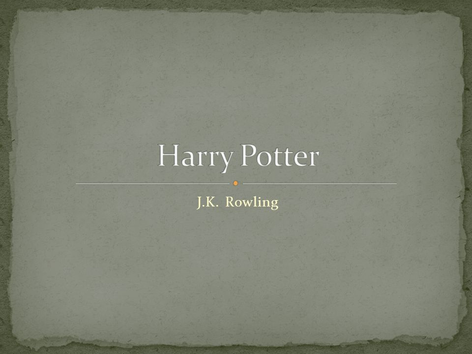 Harry Potter J.K. Rowling