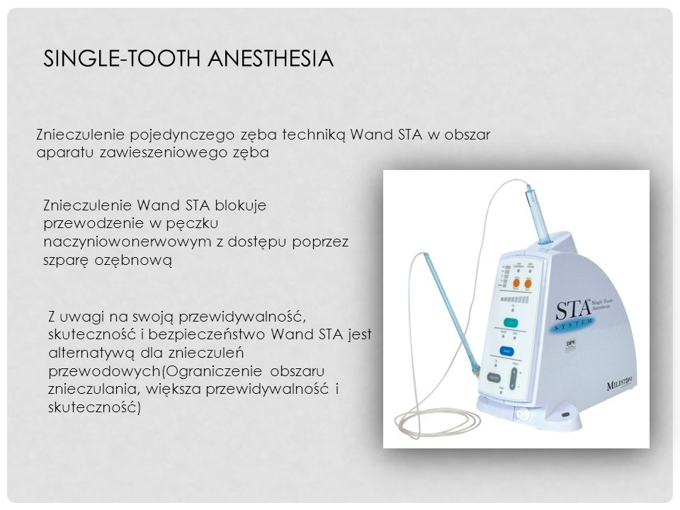 SINGLE-TOOTH ANESTHESIA