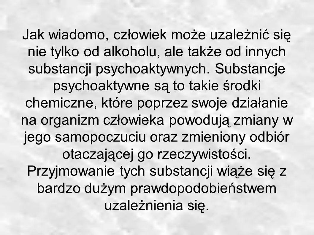 Jak wiadomo, człowiek może uzależnić się nie tylko od alkoholu, ale także od innych substancji psychoaktywnych.
