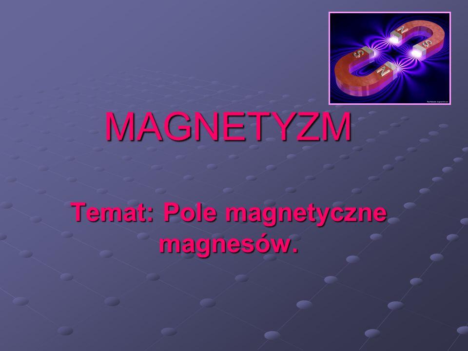 MAGNETYZM Temat: Pole magnetyczne magnesów.