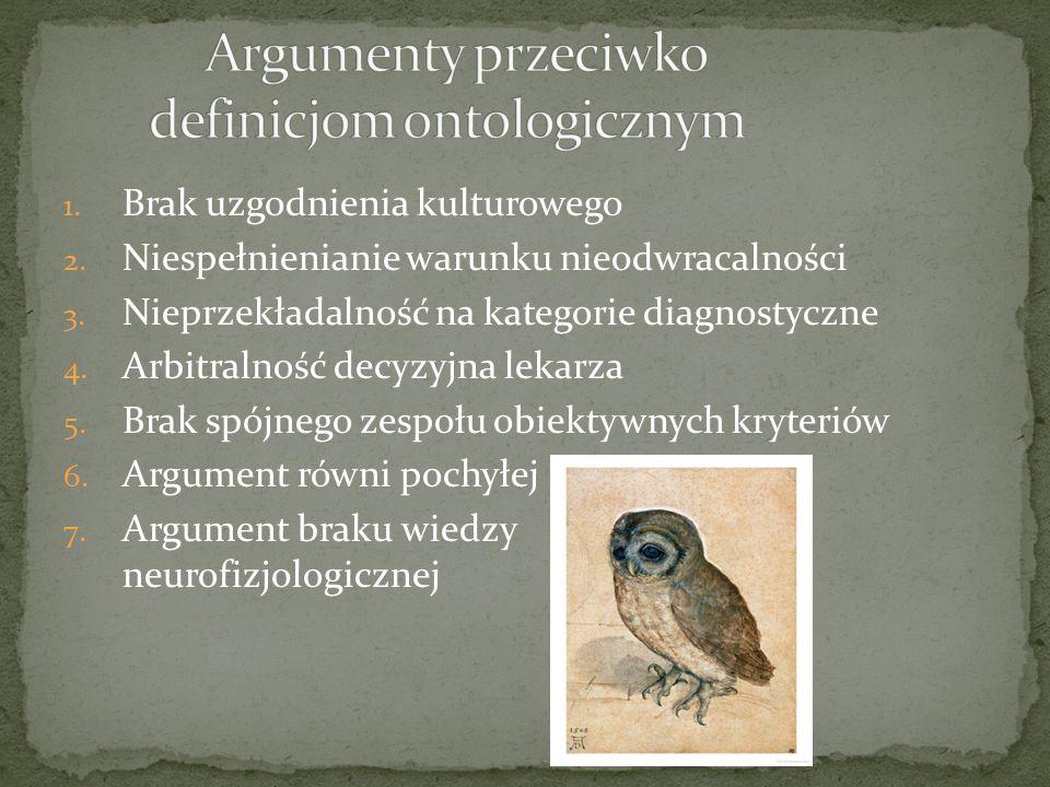 Argumenty przeciwko definicjom ontologicznym