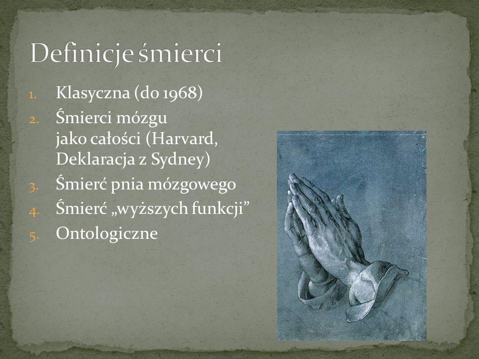 Definicje śmierci Klasyczna (do 1968)