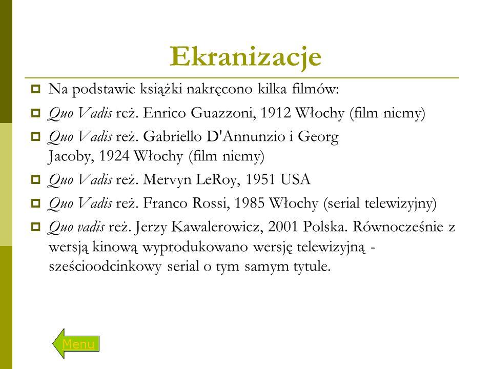 Ekranizacje Na podstawie książki nakręcono kilka filmów: