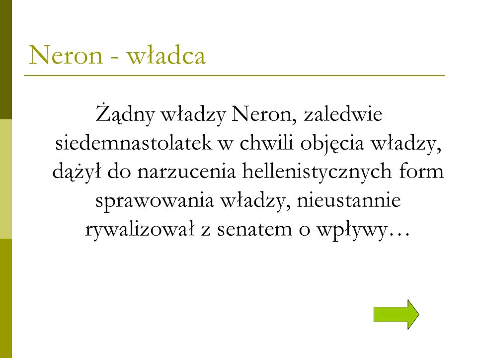 Neron - władca