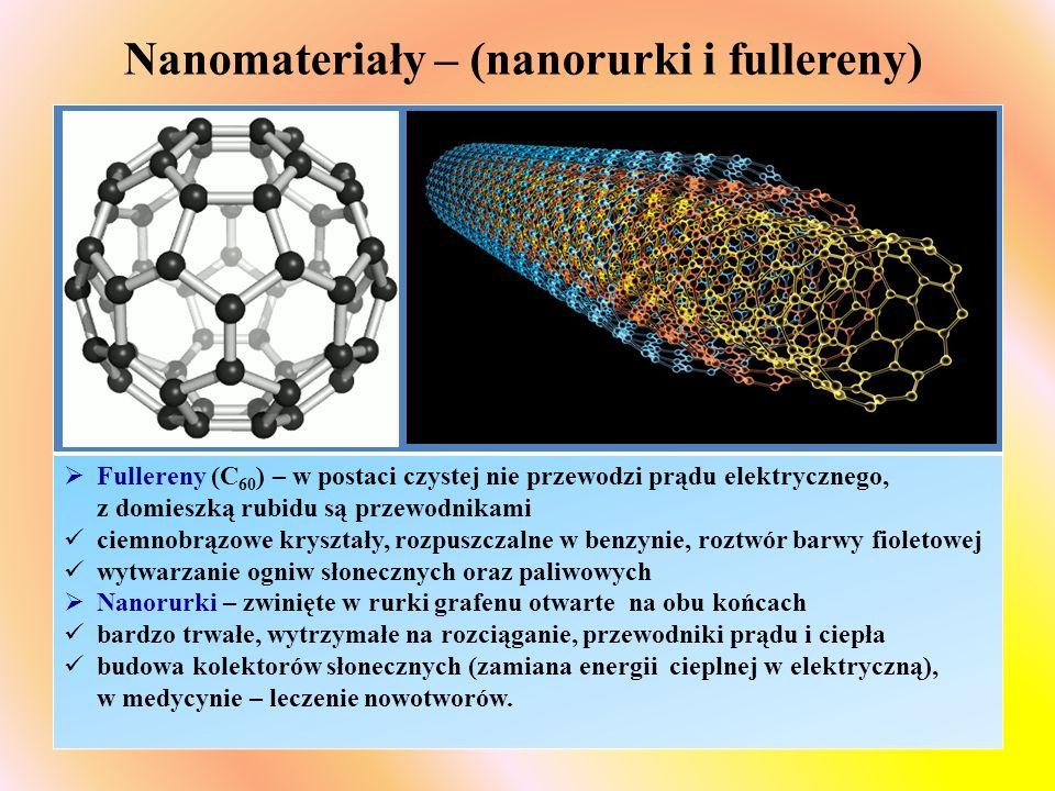 Nanomateriały – (nanorurki i fullereny)