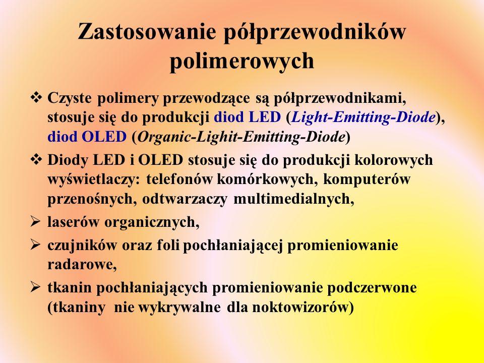 Zastosowanie półprzewodników polimerowych