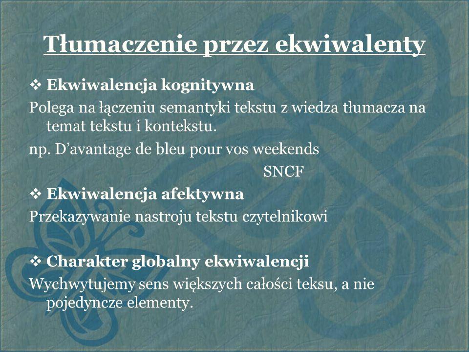 Tłumaczenie przez ekwiwalenty