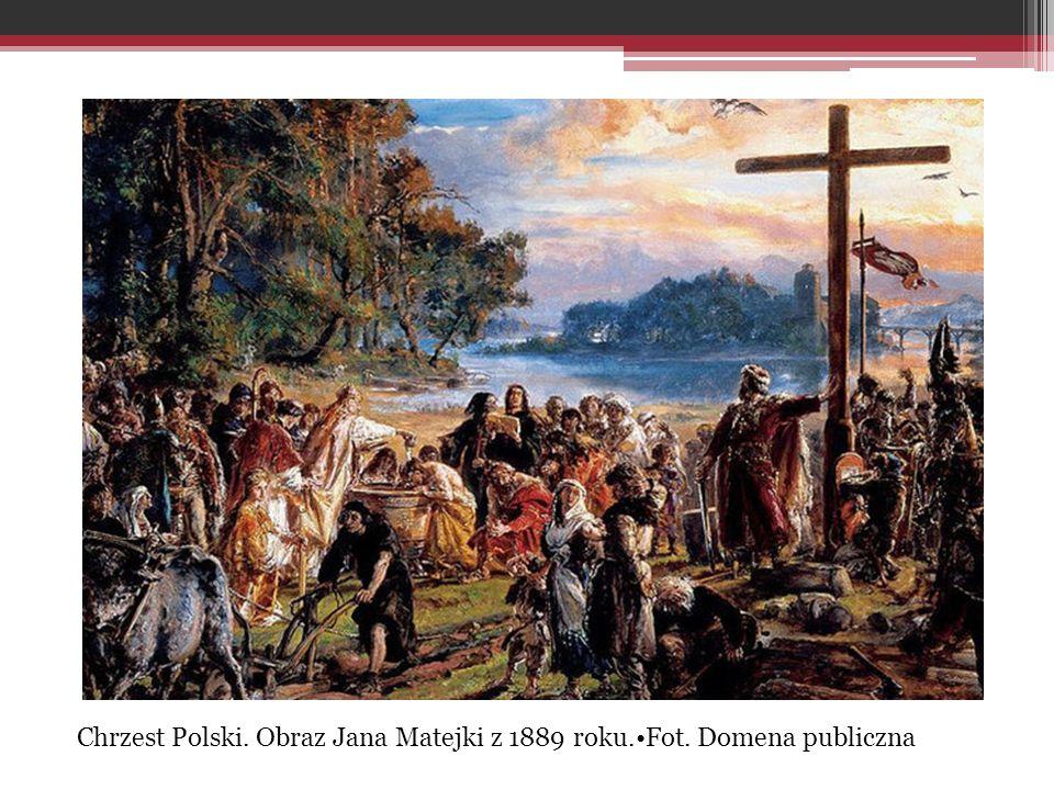 Chrzest Polski. Obraz Jana Matejki z 1889 roku.•Fot. Domena publiczna