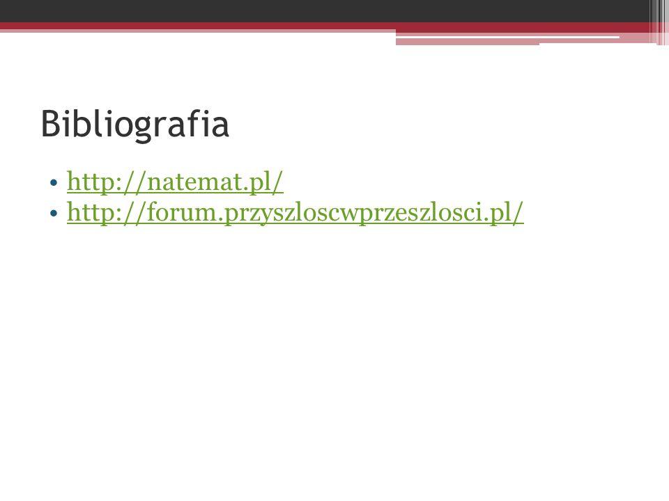 Bibliografia http://natemat.pl/