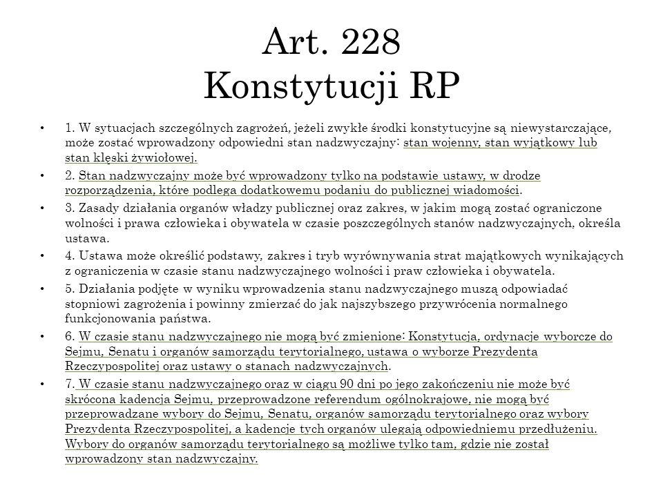 Art. 228 Konstytucji RP