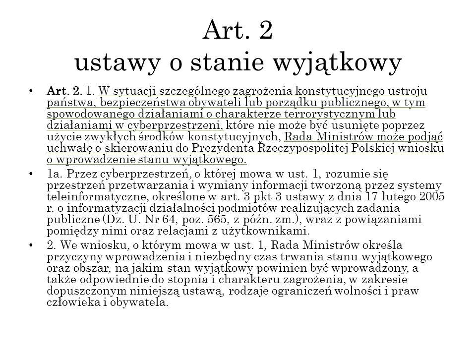 Art. 2 ustawy o stanie wyjątkowy