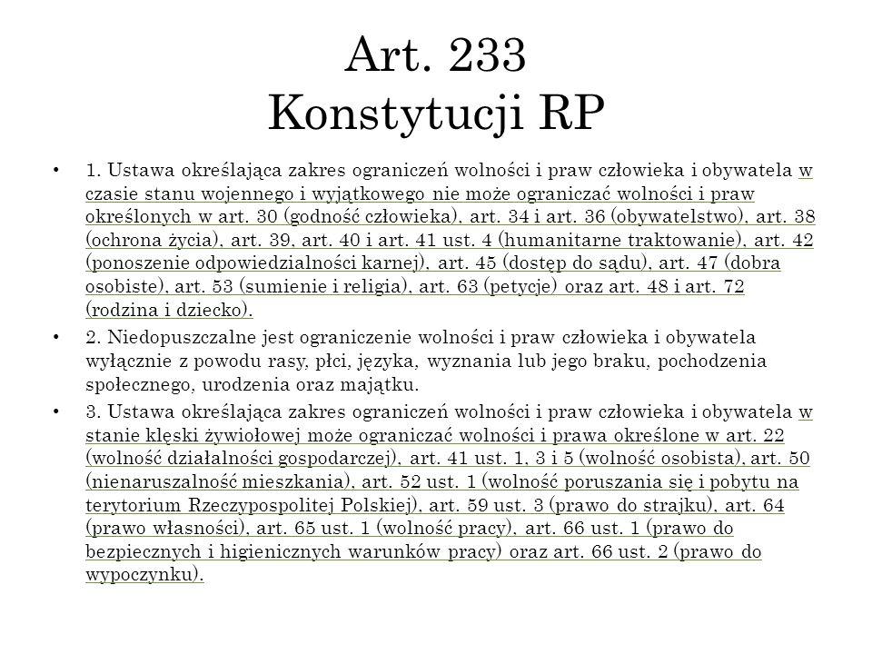 Art. 233 Konstytucji RP