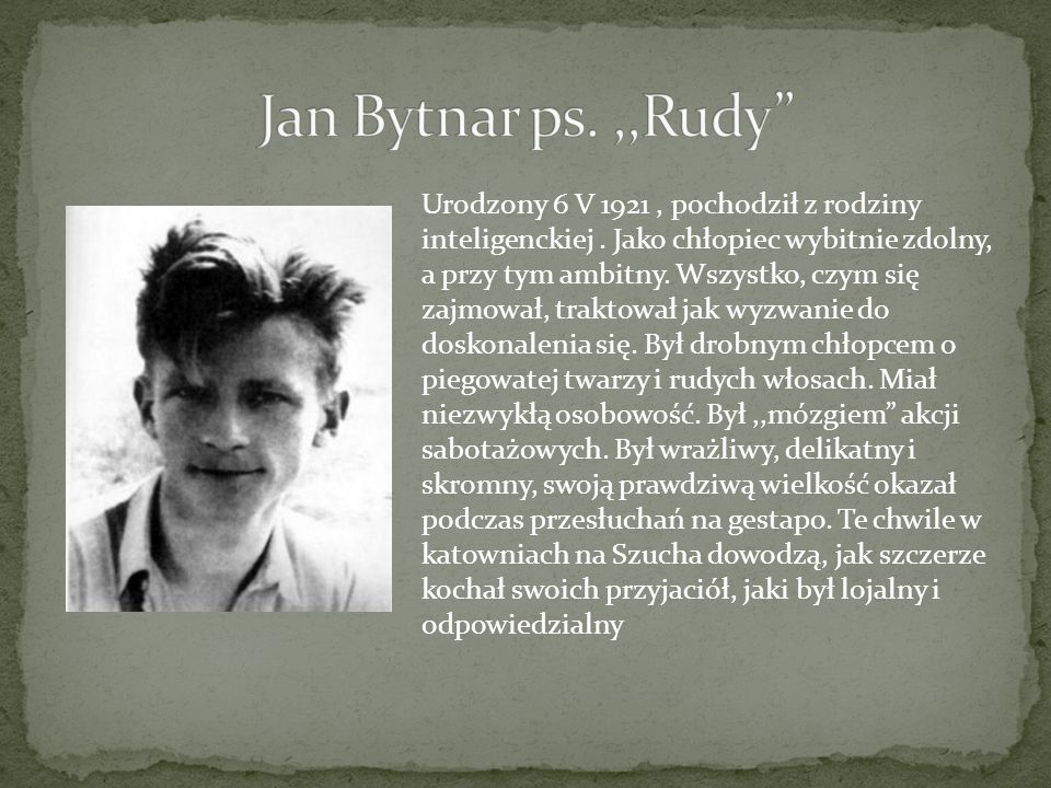 Jan Bytnar ps. ,,Rudy