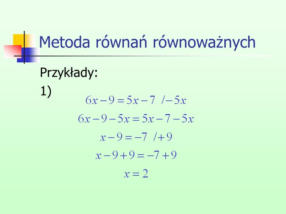 Metoda równań równoważnych