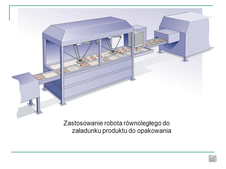 Zastosowanie robota równoległego do załadunku produktu do opakowania