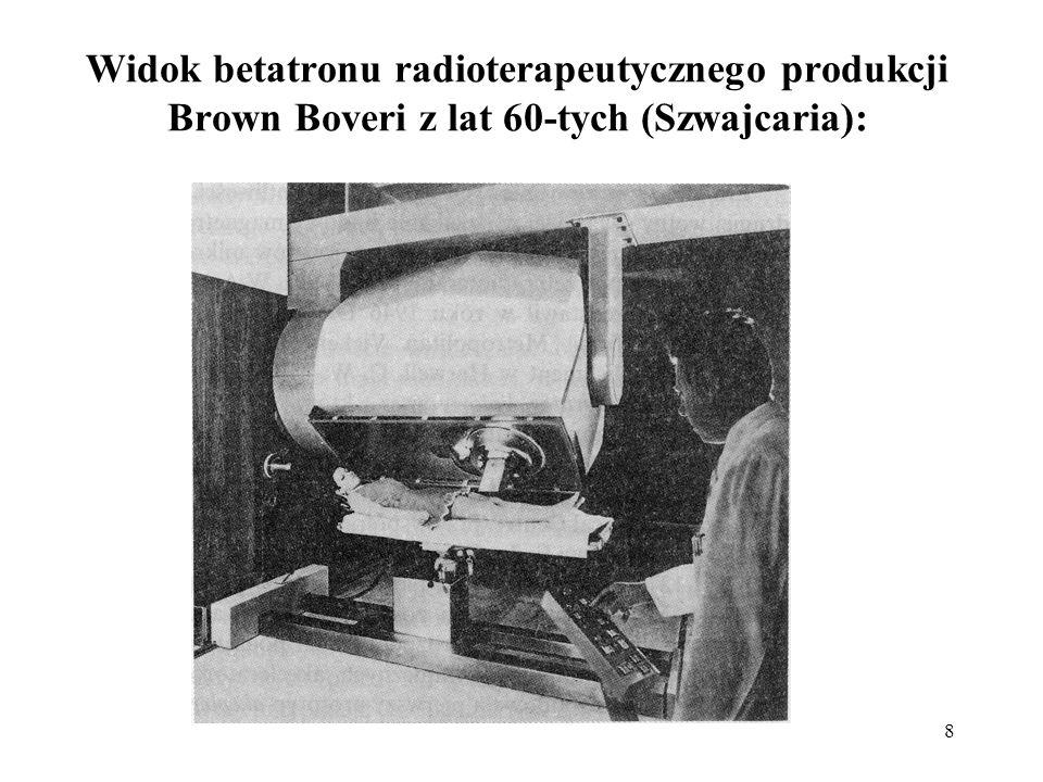 Widok betatronu radioterapeutycznego produkcji Brown Boveri z lat 60-tych (Szwajcaria):