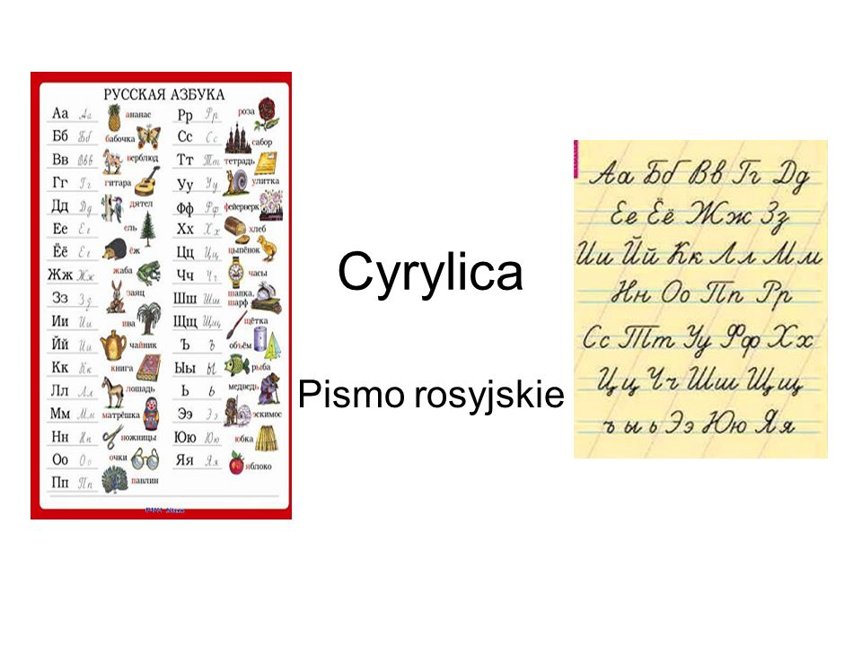Cyrylica Pismo rosyjskie