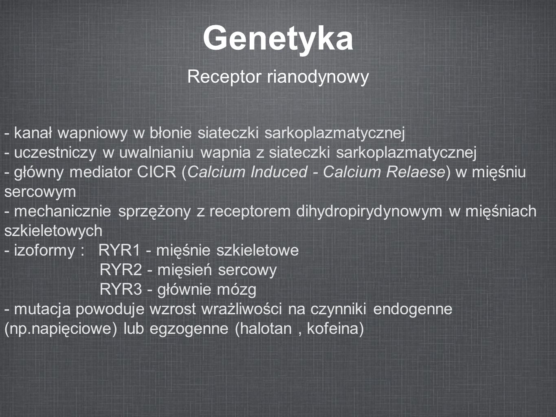 Genetyka Receptor rianodynowy
