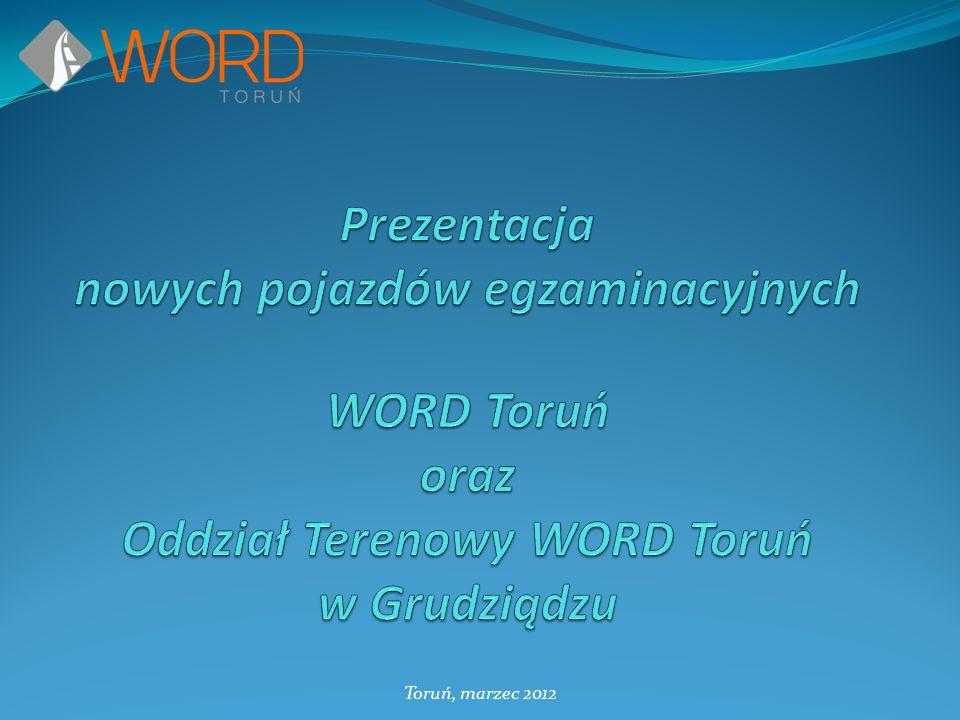 Prezentacja nowych pojazdów egzaminacyjnych WORD Toruń oraz Oddział Terenowy WORD Toruń w Grudziądzu