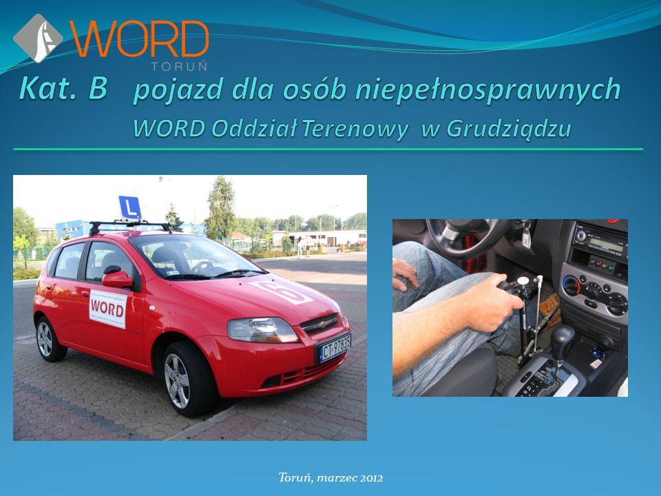 Kat. B pojazd dla osób niepełnosprawnych