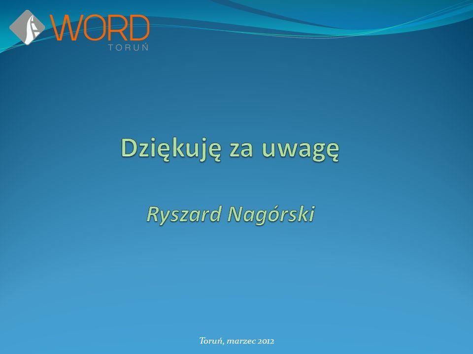 Dziękuję za uwagę Ryszard Nagórski