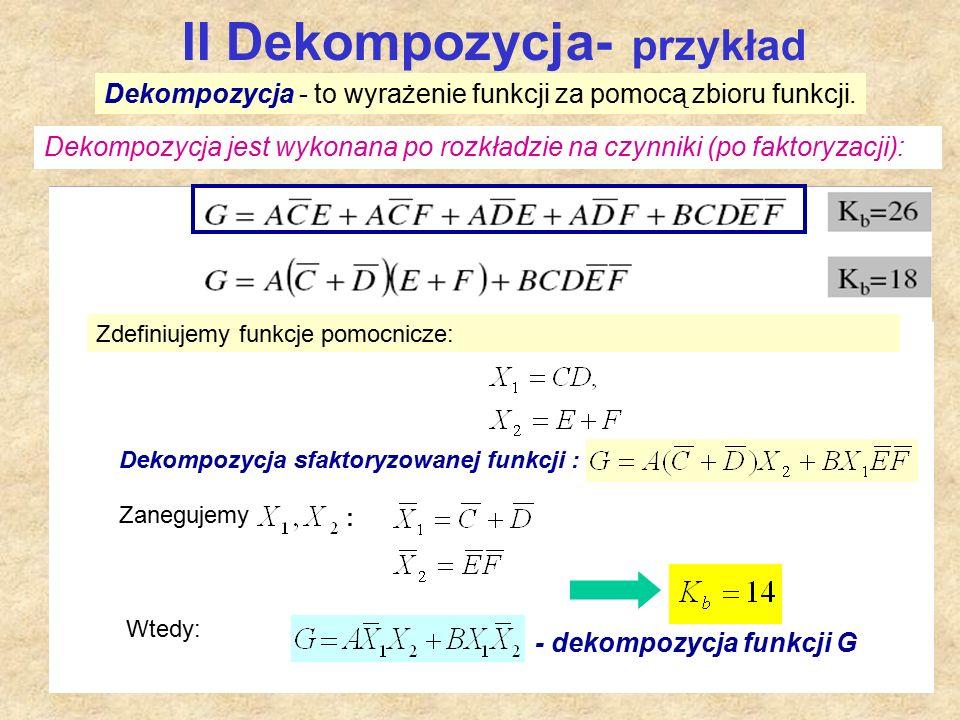 II Dekompozycja- przykład
