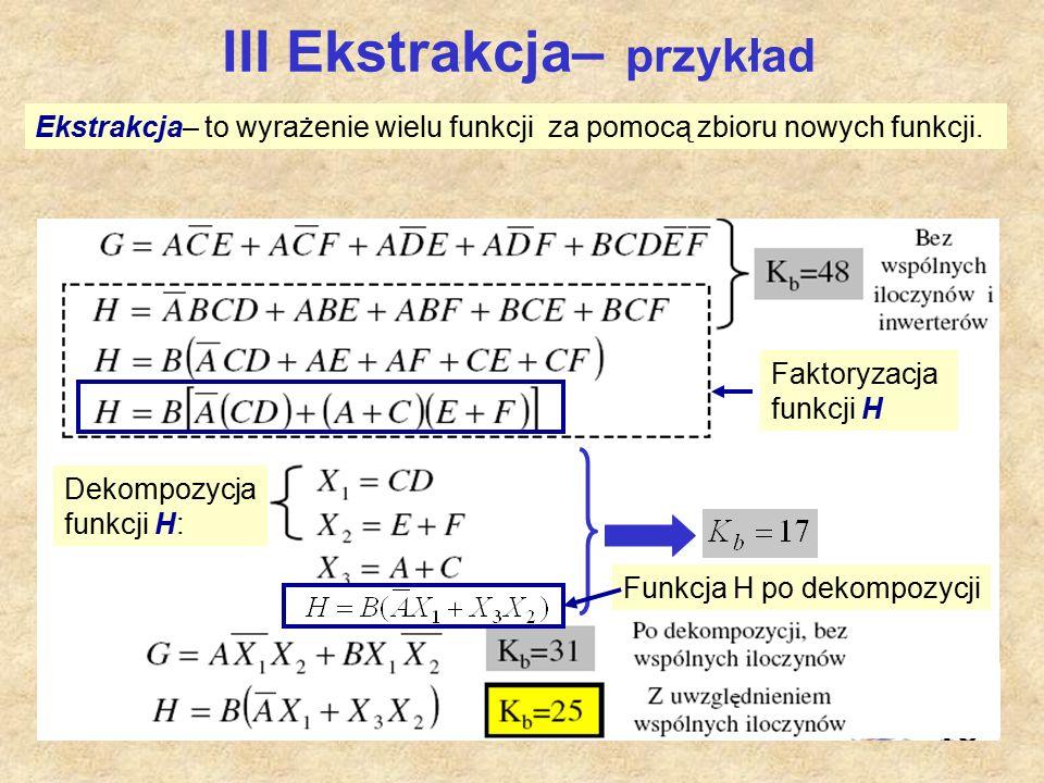 III Ekstrakcja– przykład