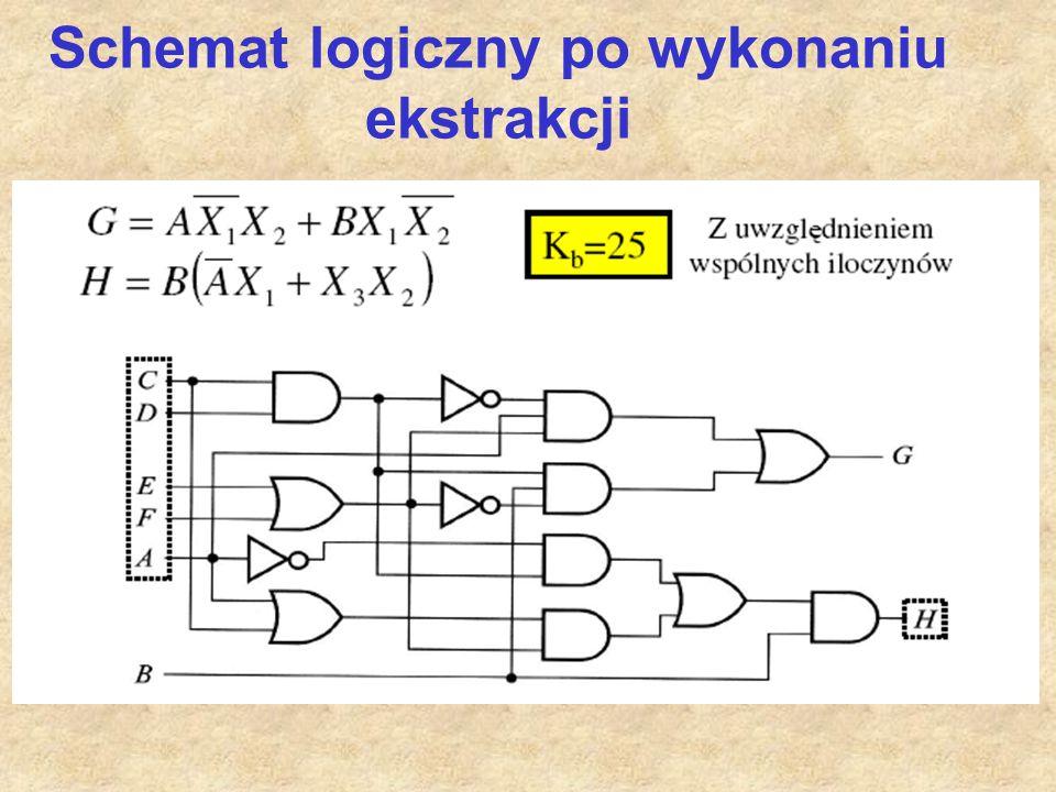 Schemat logiczny po wykonaniu ekstrakcji