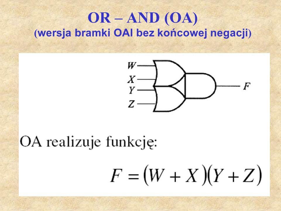 OR – AND (OA) (wersja bramki OAI bez końcowej negacji)
