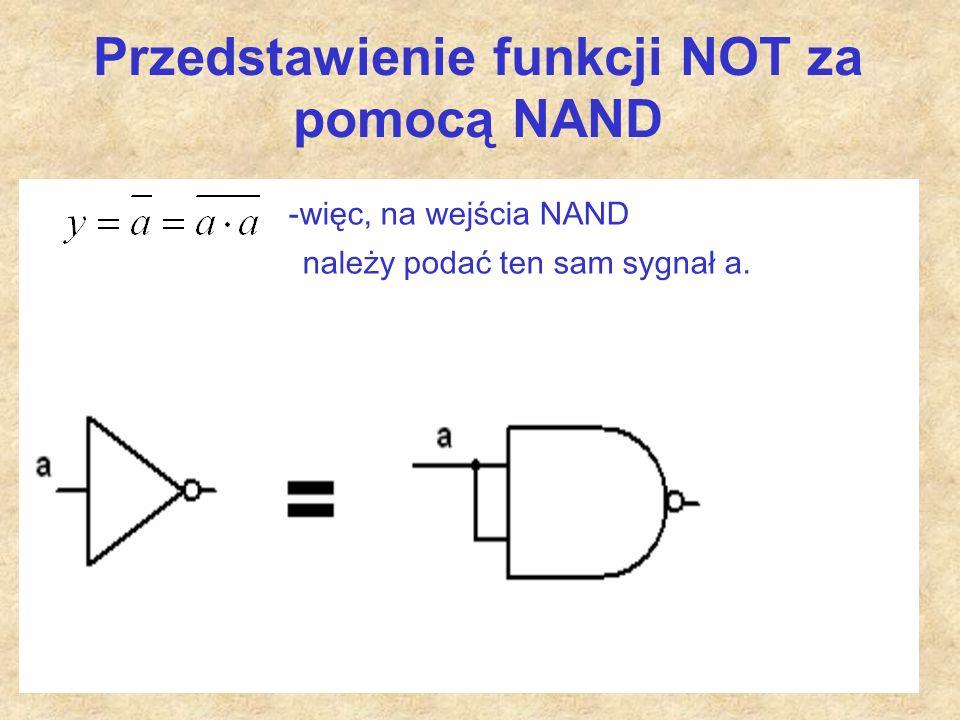Przedstawienie funkcji NOT za pomocą NAND