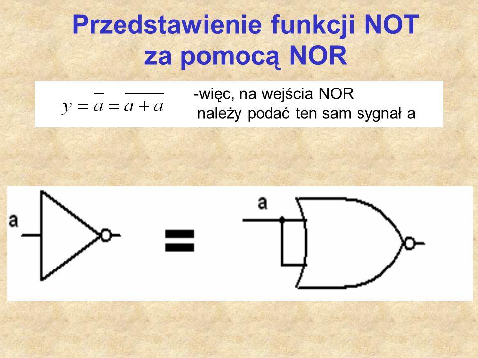 Przedstawienie funkcji NOT za pomocą NOR