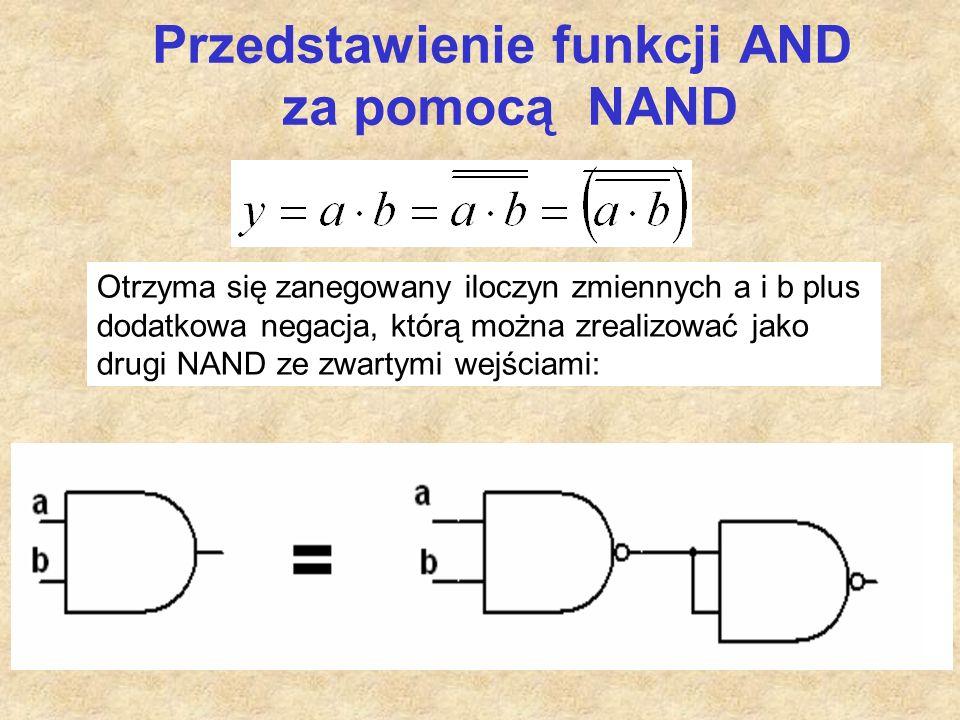 Przedstawienie funkcji AND za pomocą NAND