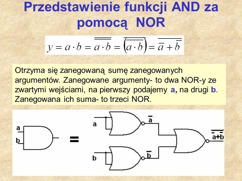 Przedstawienie funkcji AND za pomocą NOR