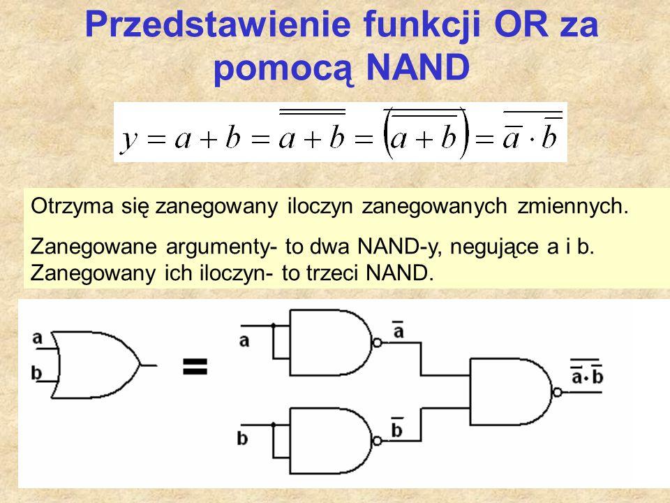 Przedstawienie funkcji OR za pomocą NAND