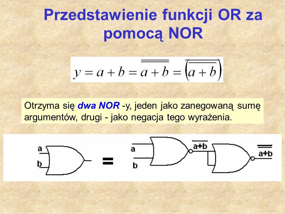 Przedstawienie funkcji OR za pomocą NOR